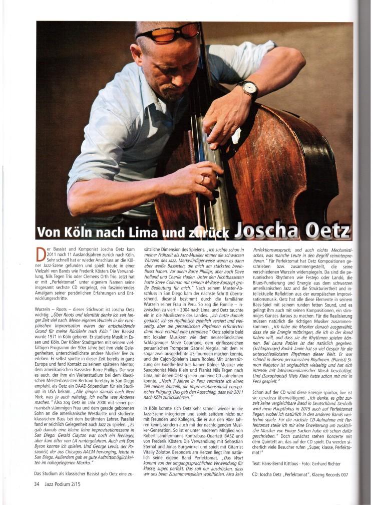 Artikel im Jazzpodium 2-15